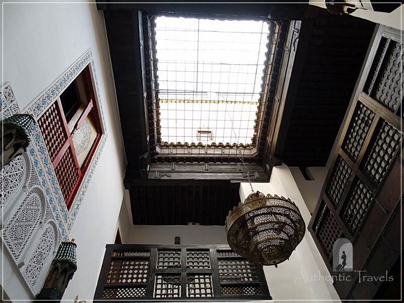 Casa Aya Medina: the skylight of the inner courtyard