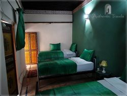 Casa Aya Medina: first floor guestroom with cactus silk curtains and bedspreads