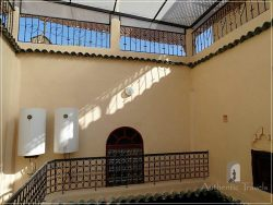 Casa Aya Medina: the inner courtyard with skylight