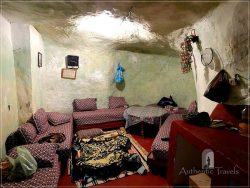 Bhalil: the inside of a troglodyte house ('the living room' is actually in a cave)