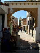 Azrou small Berber town: entrance gate to the medina