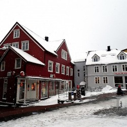 Tromsø: houses in the city center