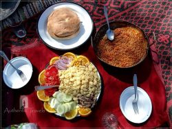 Camel Desert Trek - Day 2: lunch for the second day