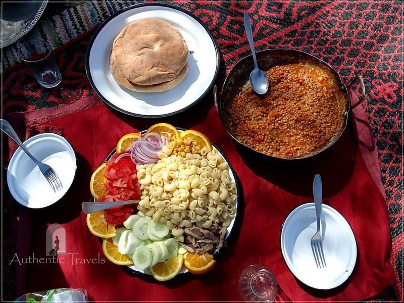 Camel Desert Trek - Day 2: lunch for the second day