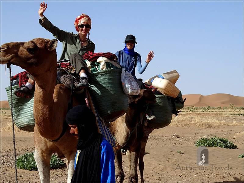 Camel Desert Trek - Day 3: with Myriem riding the camels