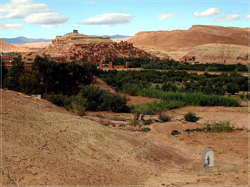 Ait Benhaddou - location on the Ounilla Valley