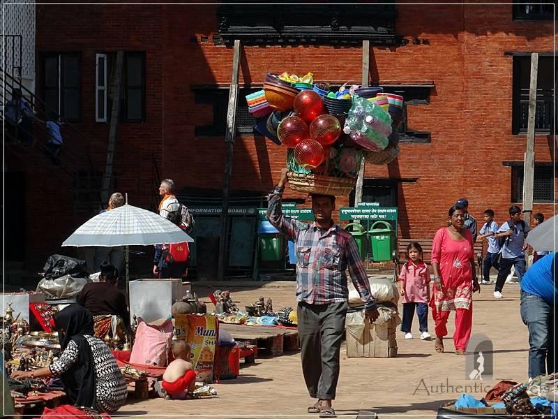 Kathmandu - Basantapur Square - everybody sells something
