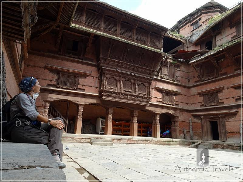 Kathmandu - Durbar Square - Tribhuvan Museum with Lohan Chowk