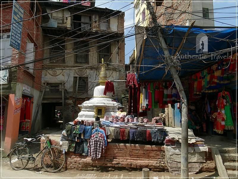 Kathmandu - A crowded street south of Durbar Square
