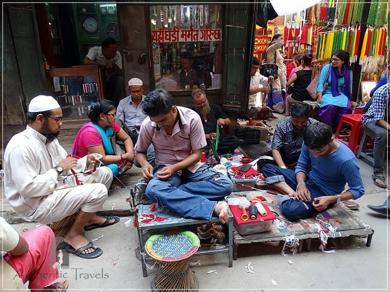Kathmandu - Indra Chowk - the bead shops for married Nepalese women