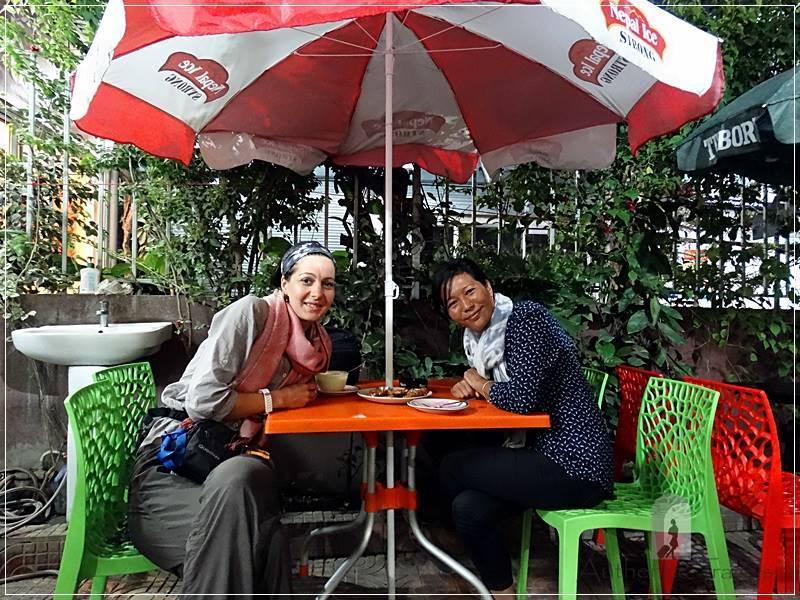 Kathmandu - Thamel - dinner with Diku at Happy Kitchen