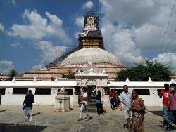Bodhnath Stupa (around Kathmandu) - pilgrims walk clockwise around the stupa