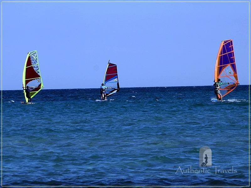 Keros Beach - the ideal place for windsurfing