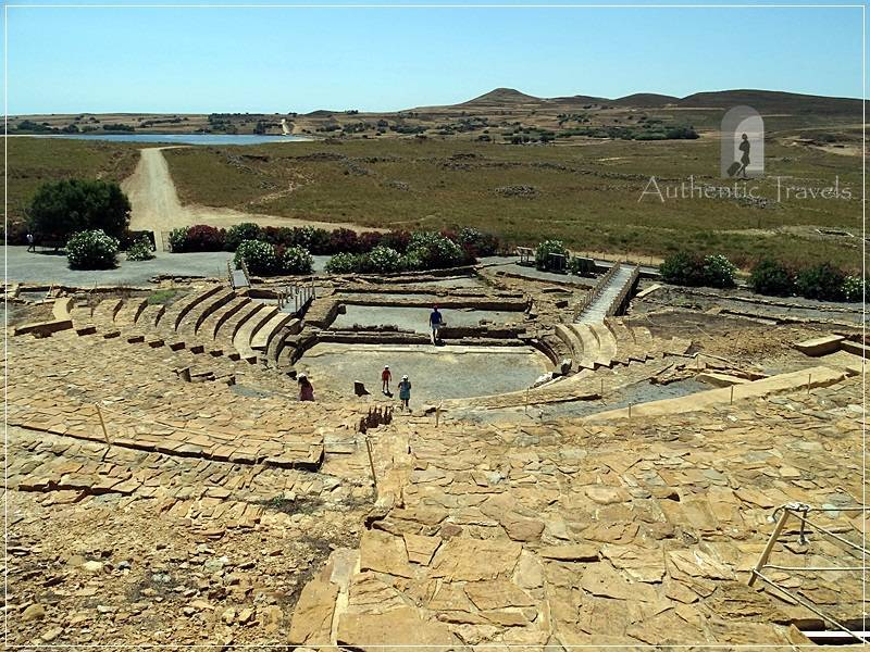 The ancient theater of Hephaistia (with archaic, Hellenistic, and Roman period)