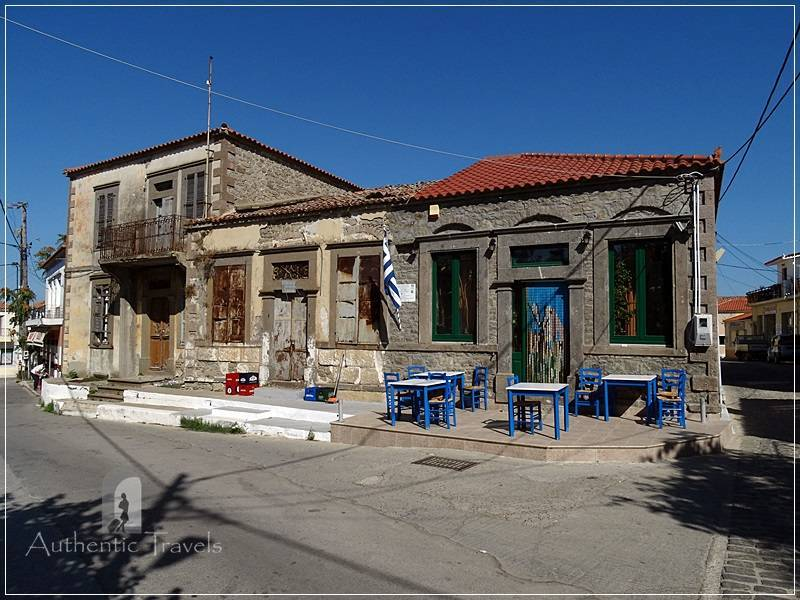 Lemnos Island: Moudros - empty streets in the afternoon
