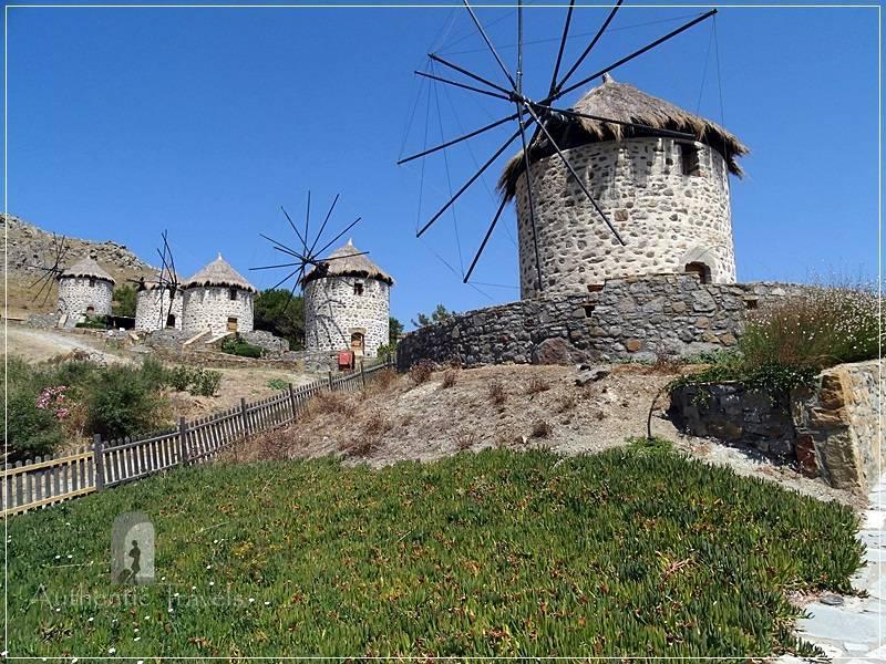 Lemnos Island: Kontias Village - restored old windmills