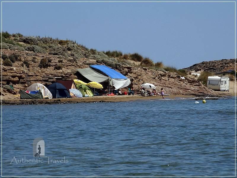 Lemnos Island: Gomati Beach - temporary campground
