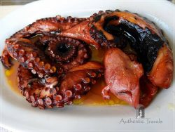 Lemnos Island: Octopus in vinegar at a taverna in Myrina