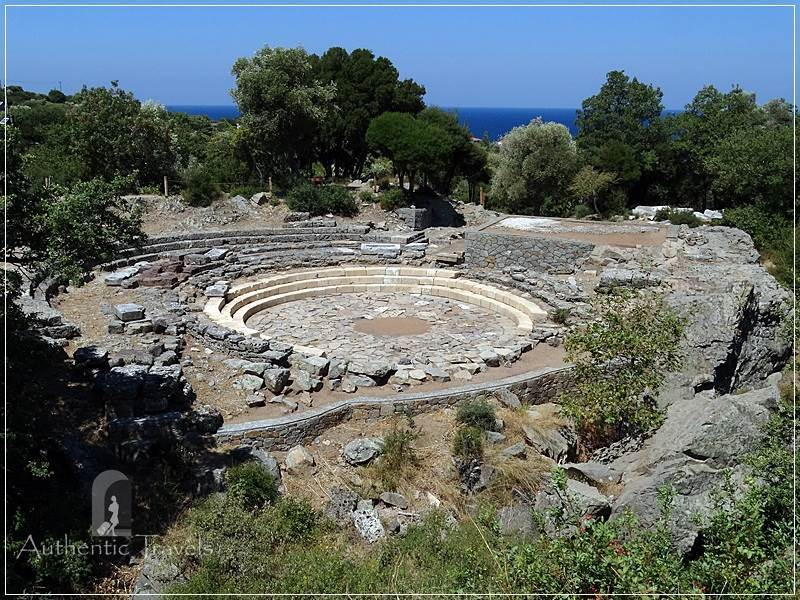 Samothraki Island: Paleopolis - the Sanctuary of the Great Gods (the theatral circle)