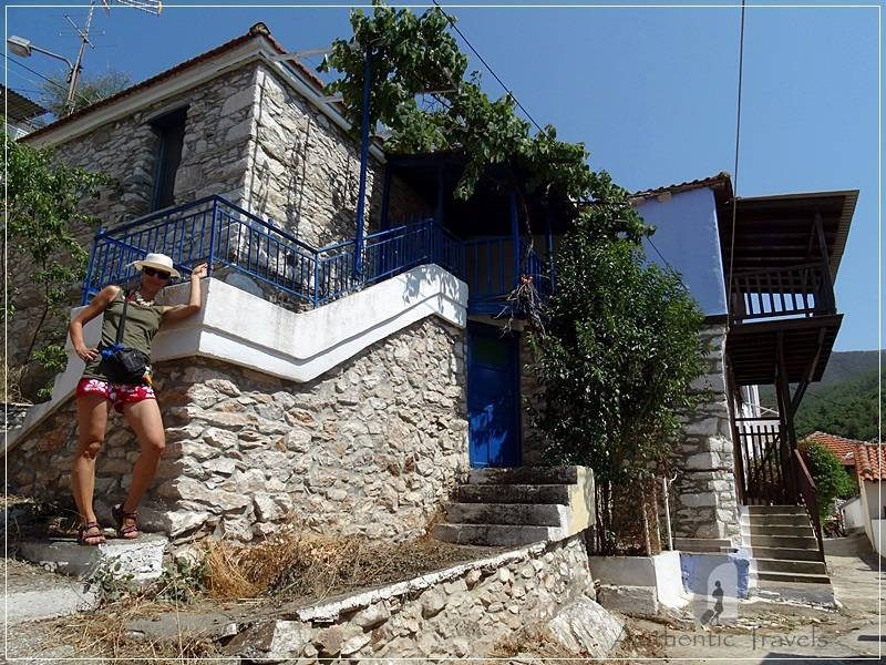 Thassos Island - Kallirachi Village: traditional stone houses
