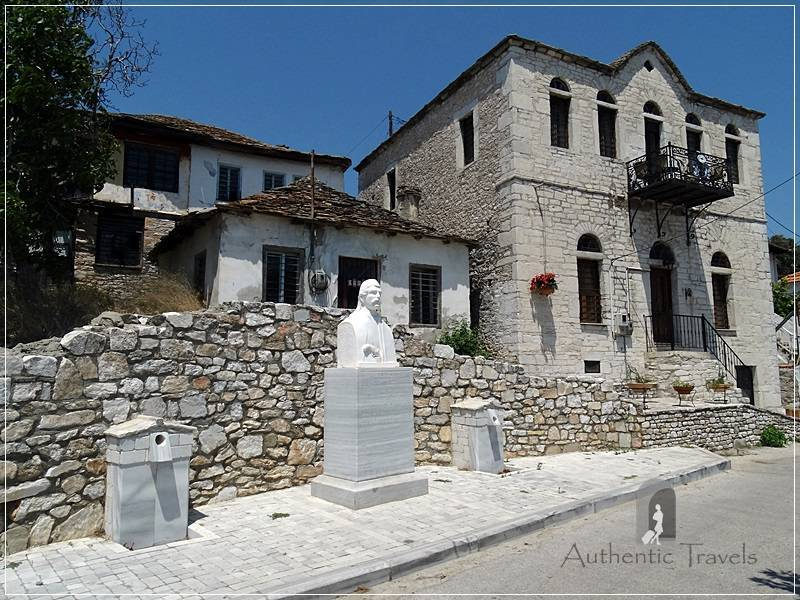 Theologos Village: a small square