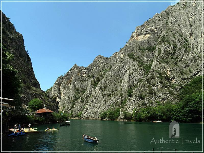 Skopje's surroundings: Matka Canyon - with boats, kayaks, or simply hiking trails