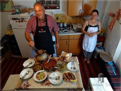 Etno House Shancheva - Stevce and Valentina Donevski cooked a traditional lunch