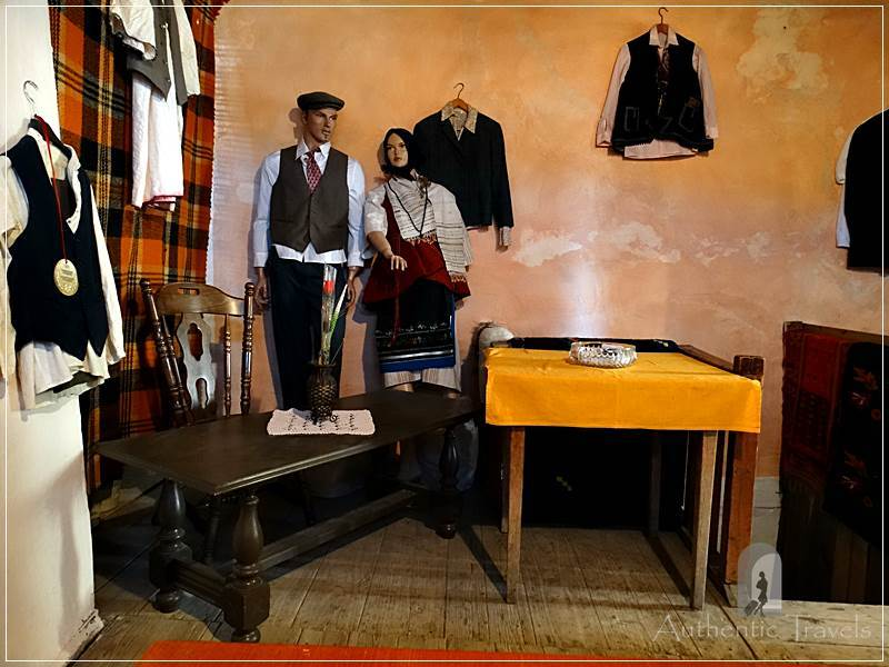 Etno House Shancheva - the salon displays traditional clothing