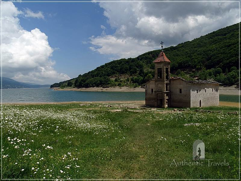Mavrovo Lake - Saint Nichola's submerged church