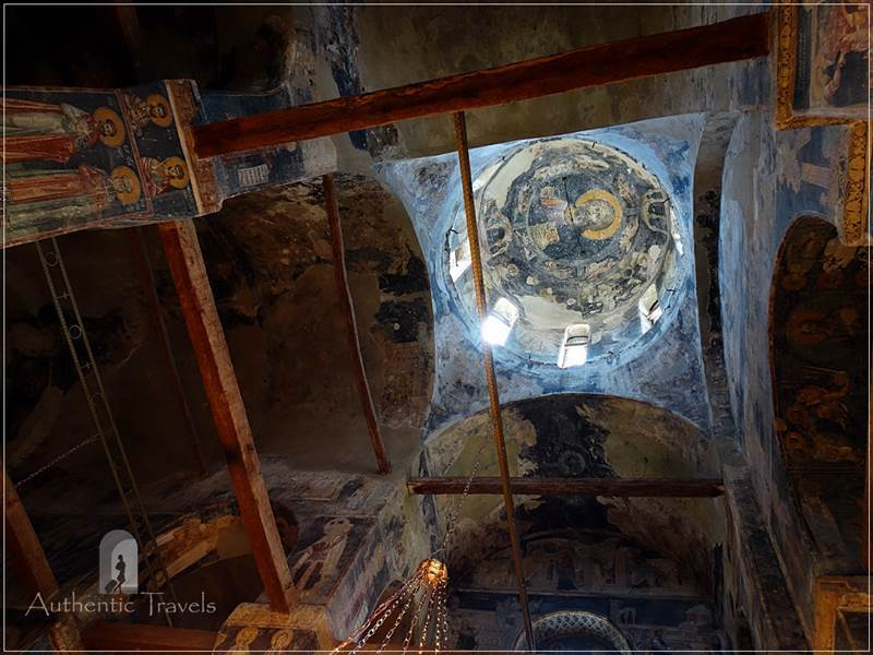 Staro Nagorichane - the interior frescoes inside the church of Saint George
