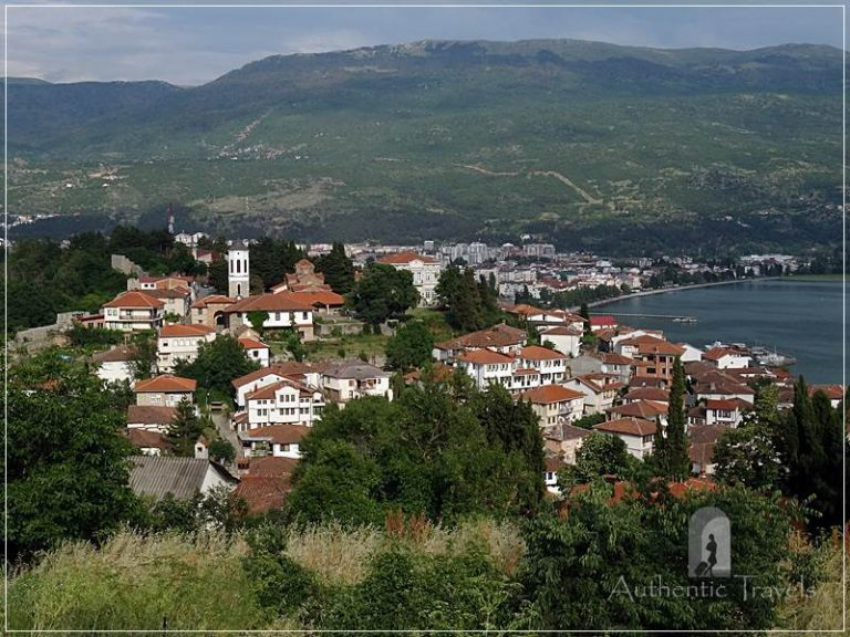 Ohrid - view of the old town from Samuel