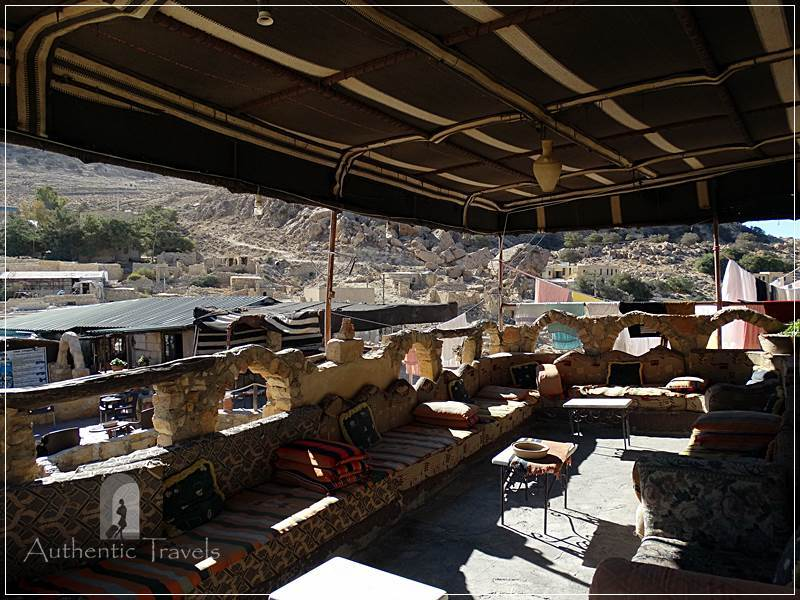 Dana Tower Hotel - the upper terrace overlooking the old village