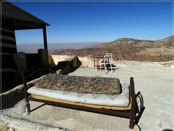 Dana Tower Hotel - the rooftop of an old house overlooking Wadi Dana