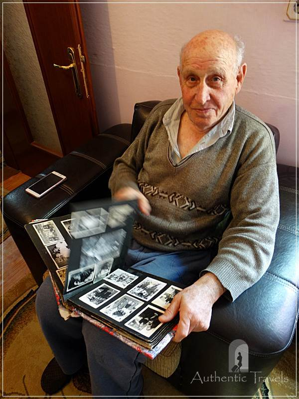 Korçë - Ilija showing to me his family album