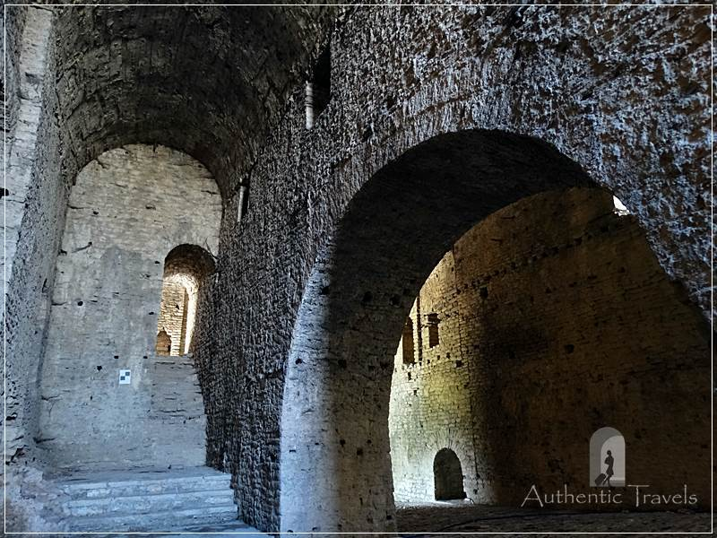 Gjirokastra - the interior of the ruined fortress