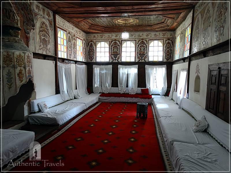 Gjirokastra - Zekate Ottoman house: the divan for guests