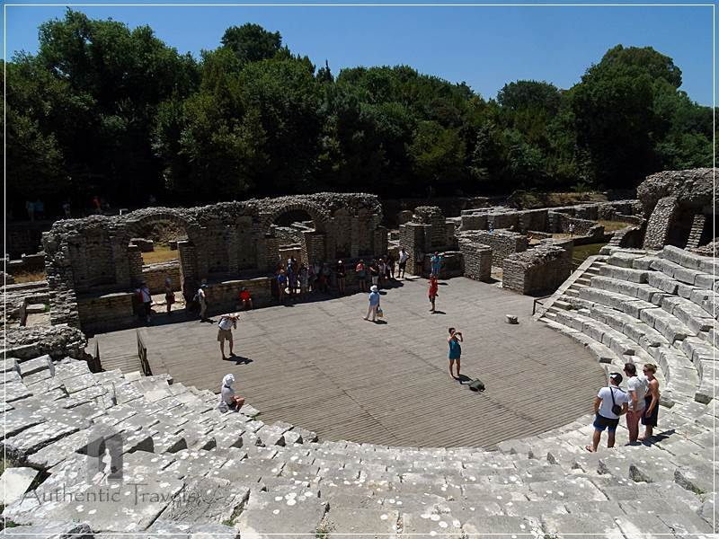 Butrint Archaeological Site - the Greek theater, later transformed into a Roman one, with a walled scene