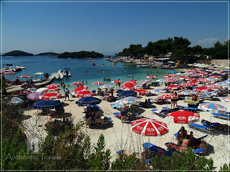 "Ksamil - one of the beaches overlooking the ""three islands of Ksamil"""
