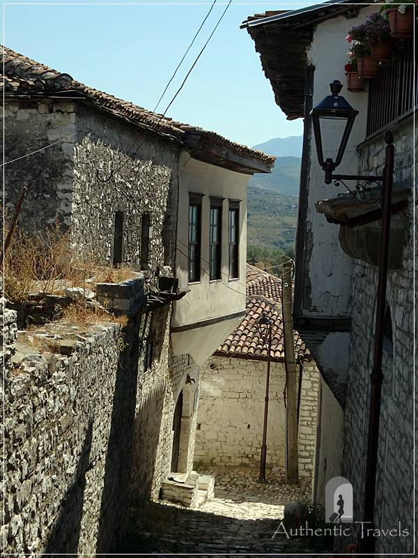 Berat Castle - typical alley in the old castle (still lived today)