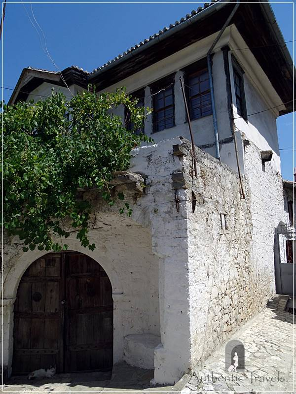 Berat Castle - traditional Ottoman house