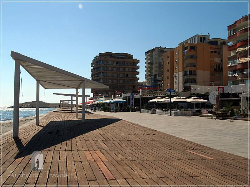 Durrës - walking along the seafront