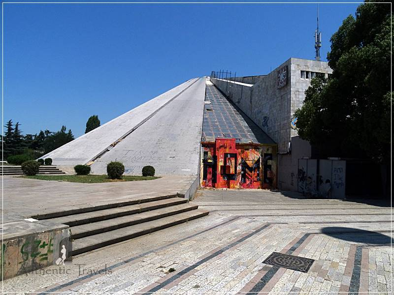 Tirana - the Pyramid, opened in 1988 as Enver Hoxha's Museum (now abandoned)