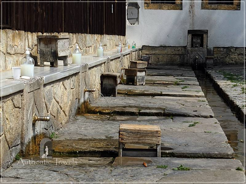 Prizren - ablution zone at the Mehmet Pasha Mosque in Bajrakli