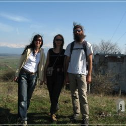 Gusterita-Sibiu, Romania - Iuliana (me) with Mathilde & Benoit from France