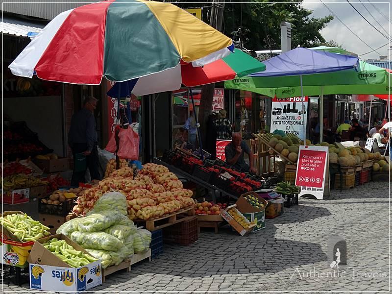 Pristina - the vegetable market
