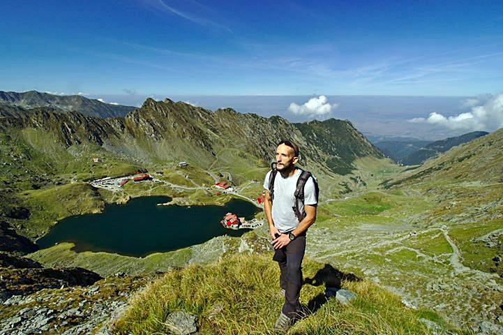 Vlad Craciun at the Balea Lake, in the Fagarasi Mountains, Romania