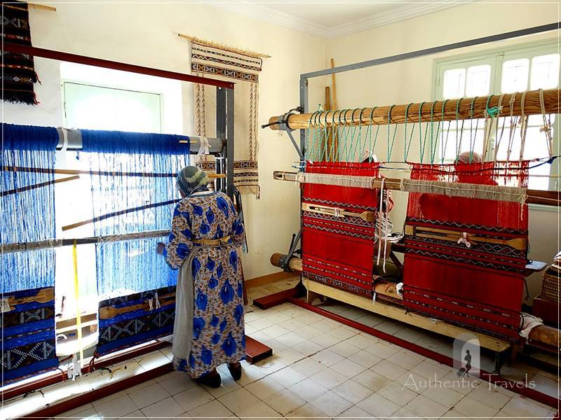 Atelier du Tissage at Kasbah de Myriem near Midelt: traditional looms