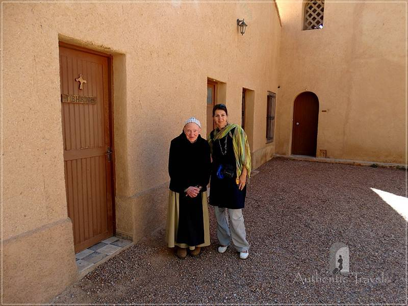 Monastery Notre Dame de l'Atlas in the former Kasbah de Myriem, near Midelt: with Pere Jean Pierre.